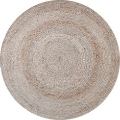 Jute braided rug in natural