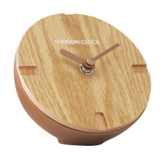 London Clock Company Atom Copper Solid Wood Spherical Mantel Clock