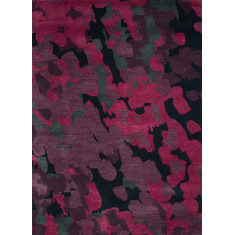 Eggplant & plum perfect hand-tufted wool rug