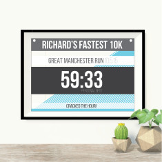 Personalised runner print