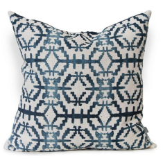 Sunstone Urban Aztec Cushion Cover in Mediterranean Blue