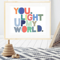 You Light Up My World Boys' Print