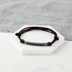 Personalised Oxidized Sterling Silver Message Bracelet