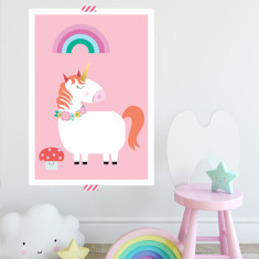 Lovely unicorn art print (more colours)