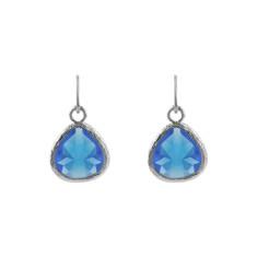 Sapphire blue love earrings