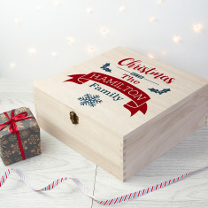 Personalised Our Family's Christmas Eve Box - Large