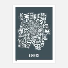 Bendigo typographic print