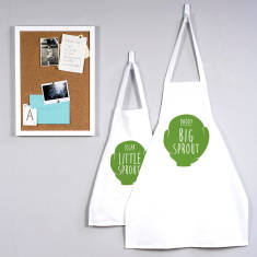Personalised 'Big Sprout, Little Sprout' Apron Set