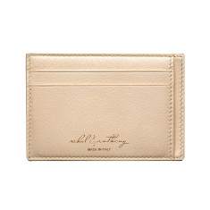Audace Unisex Card Holder - Paglierino/Camel