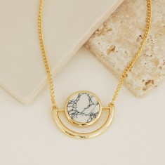 Gold Marble Necklace
