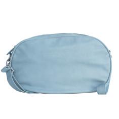 Leather Dasher Bag - Powder Blue