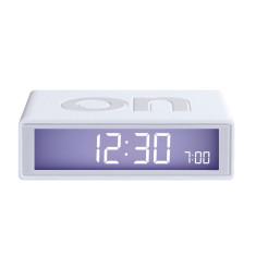 White Flip LCD alarm clock