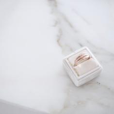Little leaf ring 18k gold vermeil