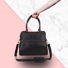 Tote Handbag in ebony black