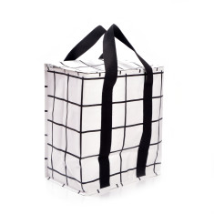 Insulated picnic bag in lines print