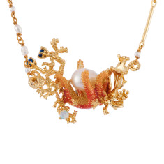 Starfish, Pearls And Corals Necklace