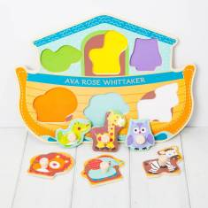 Personalised Noah's Ark Wooden Puzzle