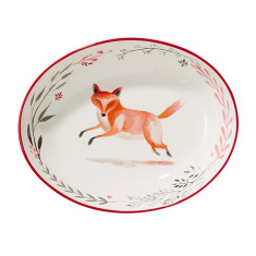 Jumping Fox Ceramic Serving Platter