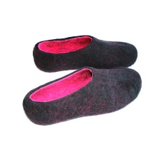 Women's Wool Slippers Black Dragon
