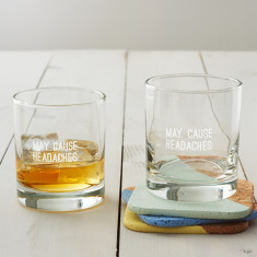May Cause Headaches Whisky Glass