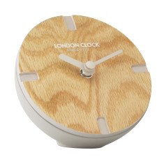 London Clock Company Atom Mocha Solid Wood Spherical Mantel Clock