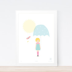 Umbrella art print