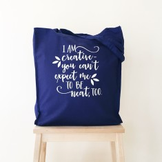 Creative not neat tote bag
