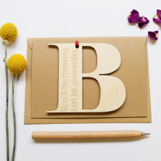 Personalised Initial Letter Good Luck Card
