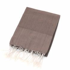 Organic cotton towel in brown