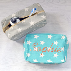 Personalised Star Copper Wash Bag