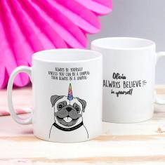 Personalised Be A Unipug Mug