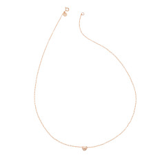 Tiny heart necklace in rose gold vermeil