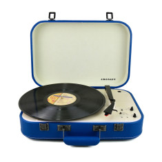Crosley Coupe Bluetooth Vinyl Record Turntable With Pitch Control - Blue