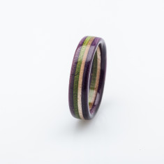 Recycled Skateboard Wooden Ring