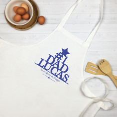Number one dad personalised apron