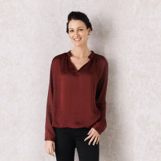 Palermo Top In Burgundy
