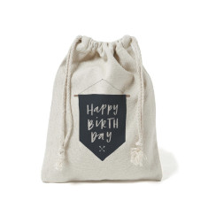 Happy birthday flag canvas gift bag