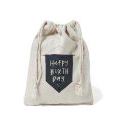 Happy birthday flag canvas gift bag