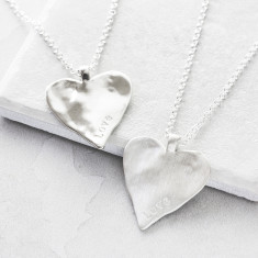 Personalised Maxi Heart Necklace