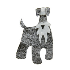 Erstwilder the schnauzer and klaus brooch