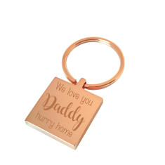 Hurry home Daddy personalised keyring