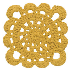 Crochet Coasters Honey (sale item, set of 4)