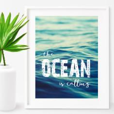 The ocean is calling print