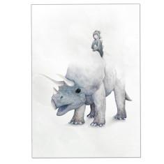 Triceratops Dinosaur Print