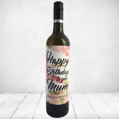 Happy Birthday to you Mum Enjoy your special day- Large Greeting card for wine