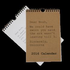 Wall calendar for 2016