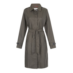 Women's packable shower-proof raincoat in khaki