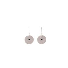 Grace Small Disc Earrings in Sterling Silver