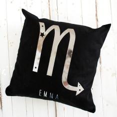 Personalised Metallic Birthday Starsign Cushion