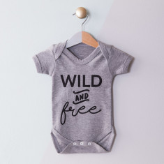 Personalised Wild And Free Baby Grow